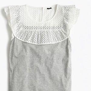 Lace bib top from J Crew. L Never worn!